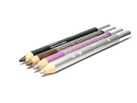 Lot 4 crayons pailletés – Brun – Noir – Mauve – Argent – Cosmépro