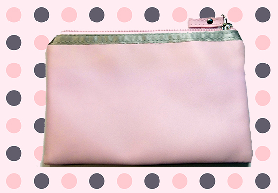 trousse rose strass verso