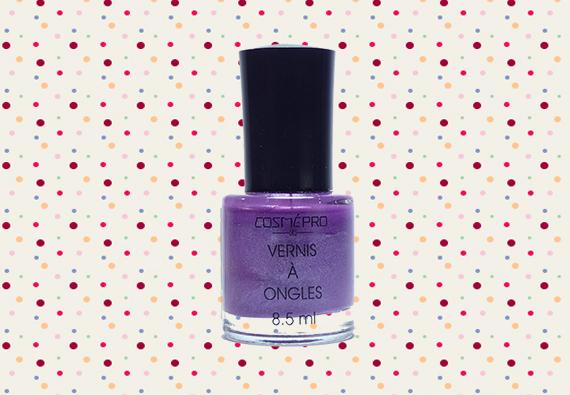 vernis violet irrisé